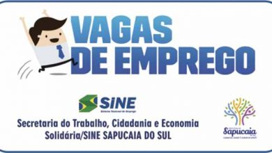 sine sapucaia 390x220 - Sapucaia do Sul: vagas de emprego para auxiliar de produção e mecânico