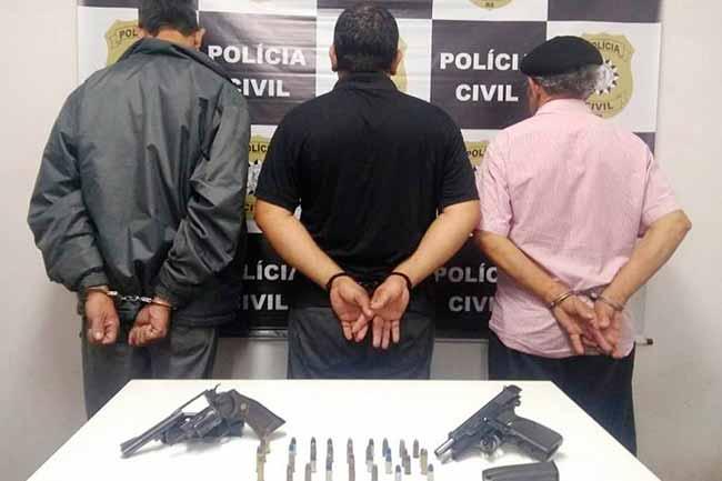 slpol - Três presos por porte ilegal de arma de fogo em São Leopoldo