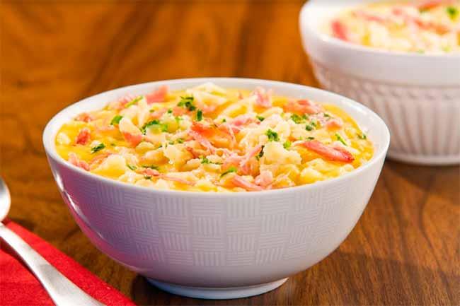 sopa de mandioquinha - Sopa de mandioquinha com costelinha suína