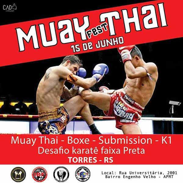 torres muay thai - Torres será sede do Muay Fest Thai em 15 de junho