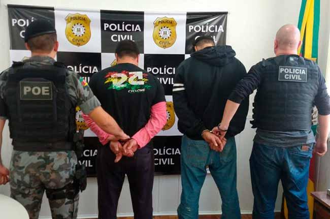 tráfico de drogas em Veranopólis - Dois homens são presos por tráfico de drogas em Veranopólis