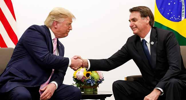 trump bolsonaro - Bolsonaro e Trump reunidos no Japão