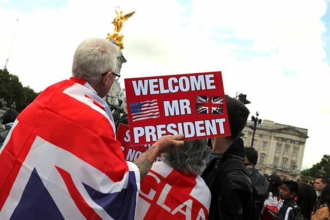 usa trump britain - Trump inicia sua campanha de reeleição