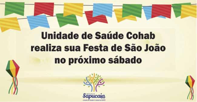 Festa São João site - Sapucaia do Sul terá Festa de São João na UBS Cohab Casas