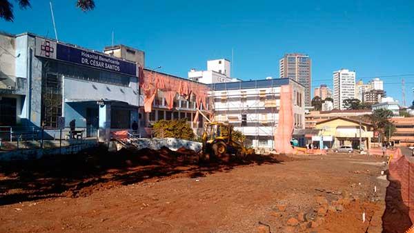 Hospital Municipal de Passo Fundo em obras - Obras do Hospital Municipal chegam a 40% em Passo Fundo