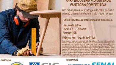 Palestra setor Moveleiro 26 07 19 390x220 - Setor moveleiro na indústria 4.0 é tema de palestra em Teutônia