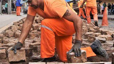 Pedra Rosa 390x220 - Inicia obra da elevada em pedra rosa entre o Calçadão e a Praça do Imigrante
