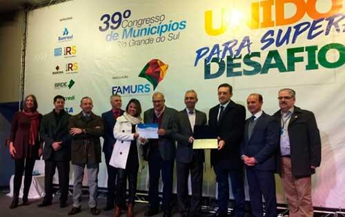 Prêmio Boas Práticas Bento Gonçalves - Bento Gonçalves é 2º lugar no Prêmio Boas Práticas da FAMURS