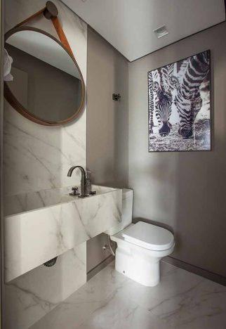 Projeto Andrade Mello Arquitetura 322x468 - Ideias de lavabos para se inspirar!