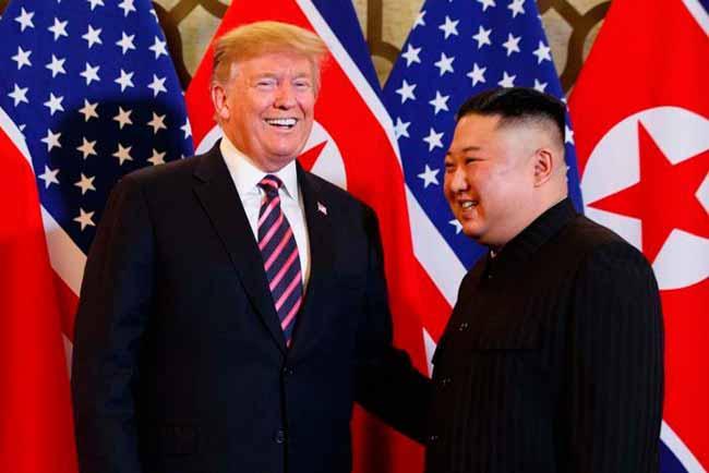 Trump e Kim Jong Un - Trump e Kim Jong Un querem retomar negociações para desnuclearização