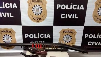 fuzil apeendido em pelotas 390x220 - Três revólveres e fuzil 762, são apreendidos em Pelotas