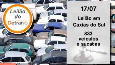 leilão do DetranRS em Caxias do Sul 390x220 - Amanhã tem leilão do DetranRS em Caxias do Sul