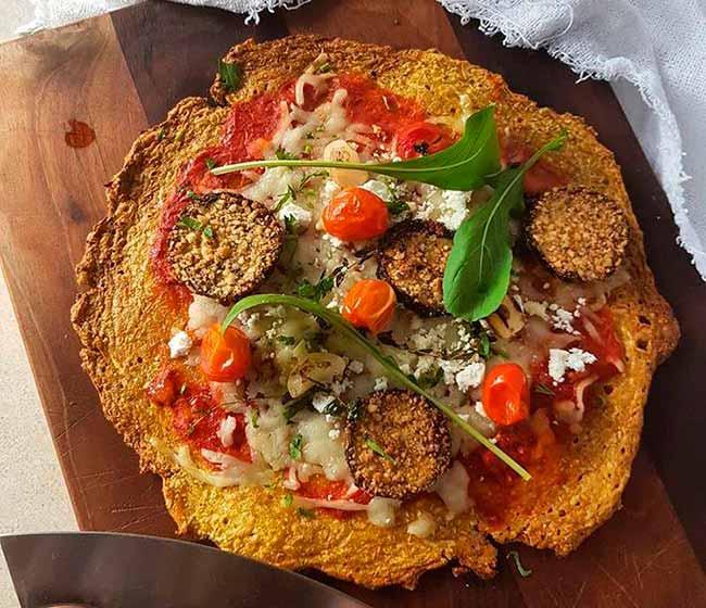 pizza low - Receita de pizza low carb