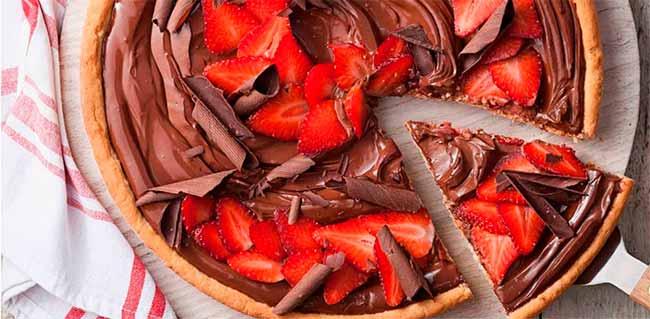 pizzachoc - Receita de pizza de chocolate com morangos