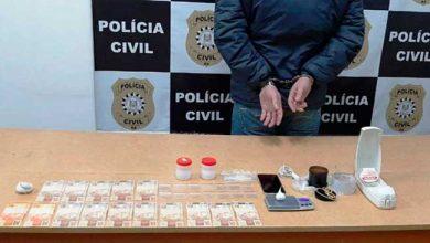 tráfico de entorpecentes em Vacaria 390x220 - Homem é preso praticando tele-entrega de drogas em Vacaria