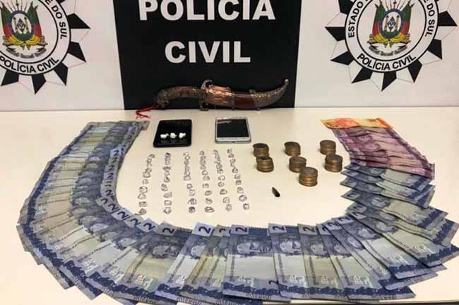 trafdrosapi - Homem é preso em flagrante por tráfico de drogas em Sapiranga