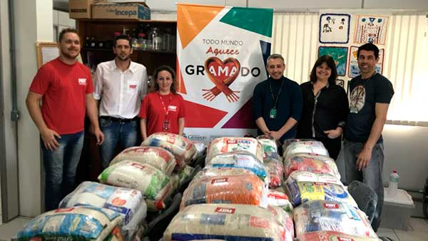 Assistência Social de Gramado 1 - Assistência Social de Gramado recebe doação de meia tonelada de alimentos