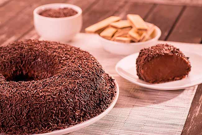 Brigadeirão com Wafer de Chocolate - Brigadeirão com wafer de chocolate