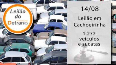 Cachoeirinha leilaõ 390x220 - Leilão do Detran em Cachoeirinha tem 1,2 mil veículos e sucatas