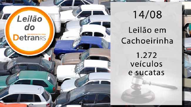 Cachoeirinha leilaõ - Leilão do Detran em Cachoeirinha tem 1,2 mil veículos e sucatas