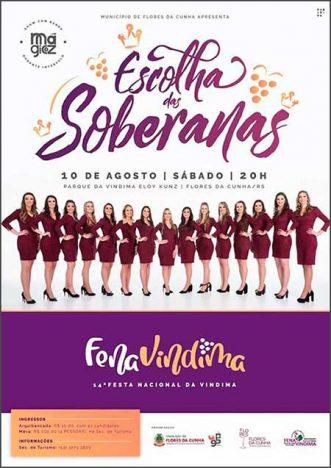 Cadidatas a Soberanas da Fenavindima de Flores da Cunha 1 331x468 - Rainha e Princesas da FenaVindima 2020 ganharão viagem no valor de R$ 7 mil