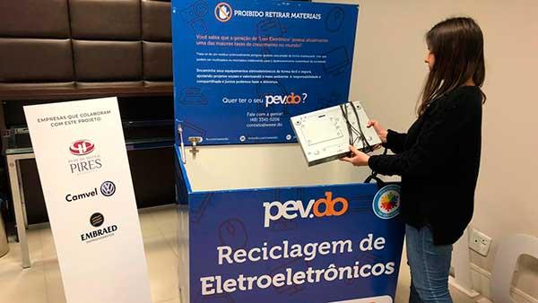 Campanha Acibalc - Acibalc coletou mais 2 mil kgs de lixo eletrônico no primeiro semestre de 2019