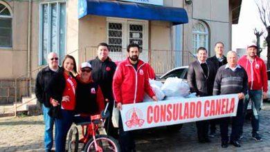 Consulado do Inter de Canela 390x220 - Consulado do Inter de Canela doa alimentos ao Hospital de Caridade