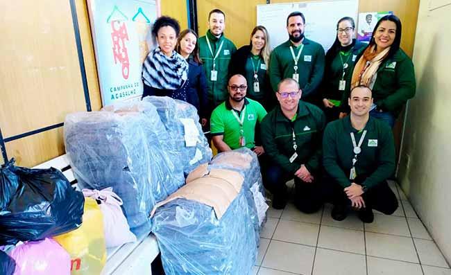 Doações Leroy Merlin - Leroy Merlin doa cobertores para Banco do Agasalho de São Leopoldo