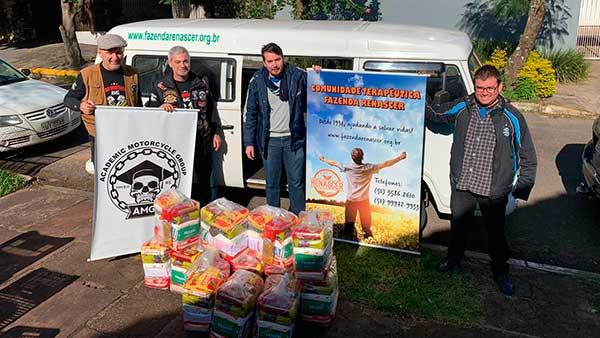 Doações Parceiros Voluntários 1 - Unidade Parceiros Voluntários São Leopoldo celebra doações