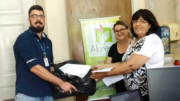 Doações Parceiros Voluntários 7 - Unidade Parceiros Voluntários São Leopoldo celebra doações
