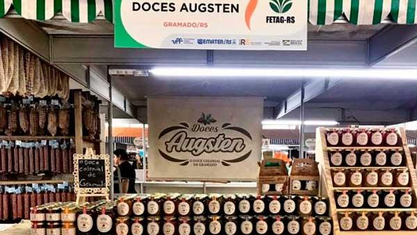 Estande da Cássia Augsten Linha Ávila - Agroindústrias de Gramado estarão presentes na Expointer