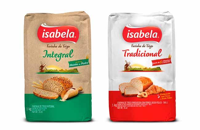 MKP Farinha Isabela Trad 1kg - Isabela lança farinhas de Trigo Tipo 1 e Integral