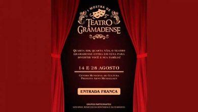 Mostra de Teatro Gramadense 390x220 - 1ª Mostra de Teatro Gramadense inicia na quarta-feira, 14
