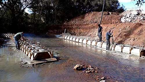 Obras Ponte Criúva Jair Salvador 28 - Concluída base da nova ponte sobre o Arroio dos Ramos em Caxias do Sul