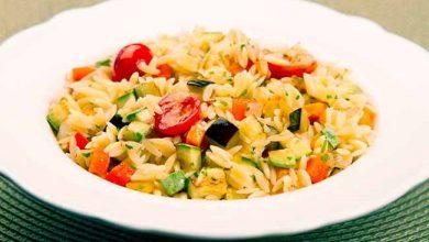 Photo of Salada de risoni com vegetais grelhados
