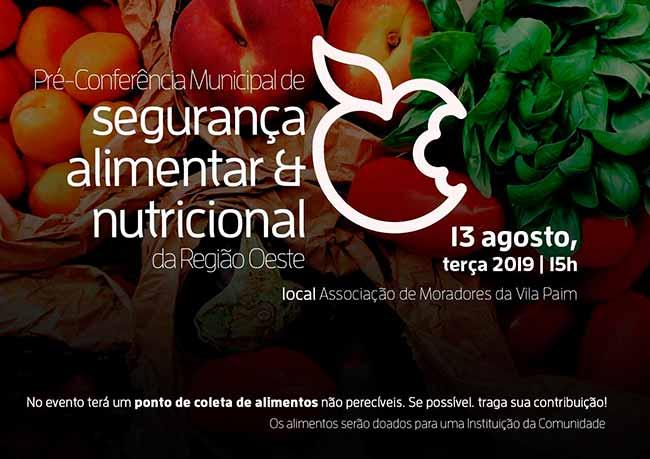 Segurança Alimentar sl - São Leopoldo realiza semana de pré-conferências de segurança alimentar
