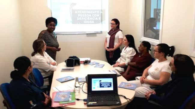 Servidores da UPA Centro - Servidores da UPA Centro recebem capacitação para atendimento prioritário em Novo Hamburgo