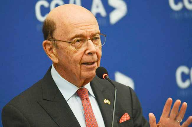 Wilbur Ross - EUA buscam parceria preferencial para projetos de infraestrutura com o Brasil