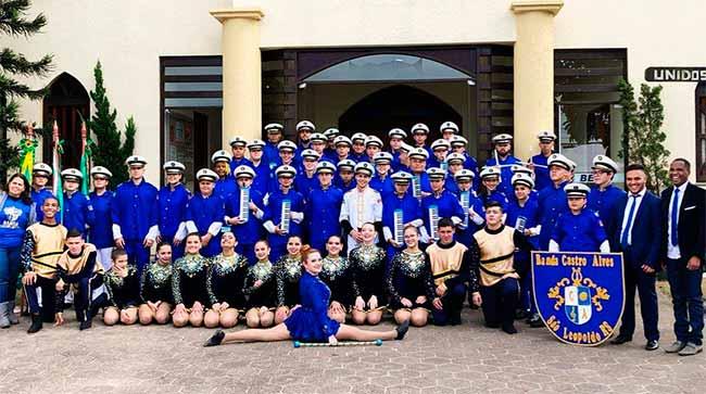 bandasl - Bandas Marciais de escolas leopoldenses são premiadas em concurso