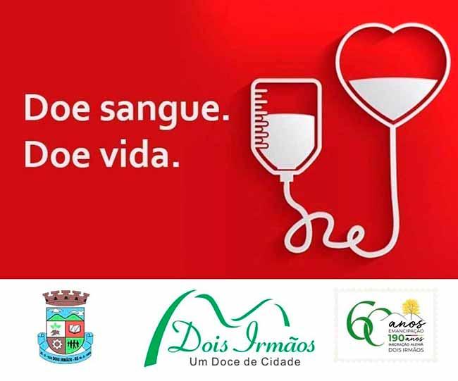 doe sanguedoisirmaos - Dois Irmãos realiza ação para doação de sangue dia 10 de agosto