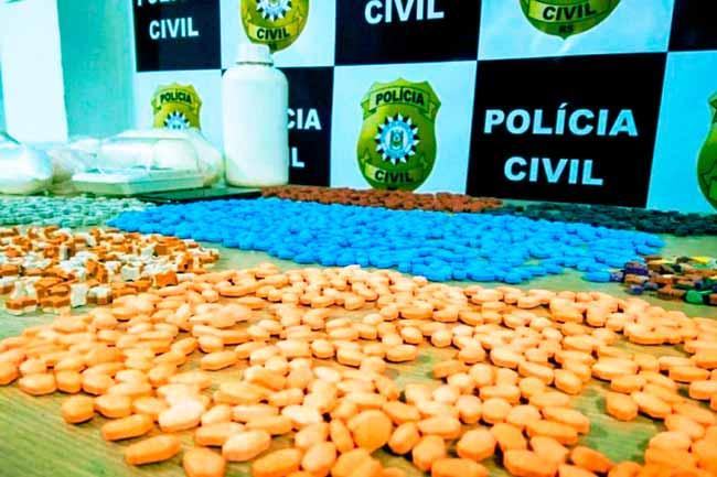 drogsinte - Preso em flagrante em laboratório de ecstasy em Gravataí