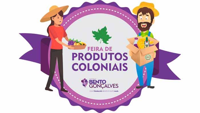 feira produtos coloniais bento gonçalves rs - Bento Gonçalves terá feira mensal de produtos coloniais