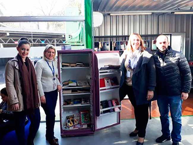 Revista News geladeira-literária Campo Bom entrega geladeira literária na Ticket Log