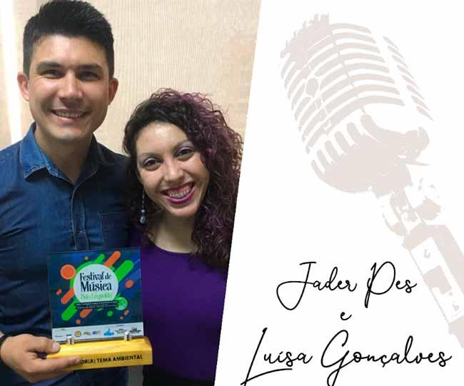 jader e luisa - Luísa e Jader venceram o Festival de Música de São Leopoldo