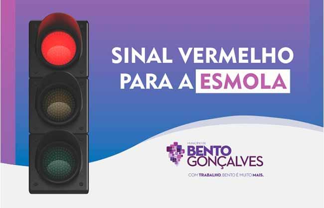 sinalvermesm - Bento Gonçalves lança a campanha Sinal Vermelho para a Esmola