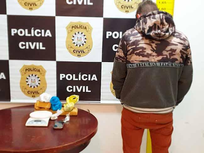trafdrgram - Operação combate o tráfico de drogas em Gramado