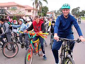 Caminha em Santa Maria RS 1 - Passeio ciclístico e caminhada reúne mais de 400 pessoas em honra à Pátria em Santa Maria