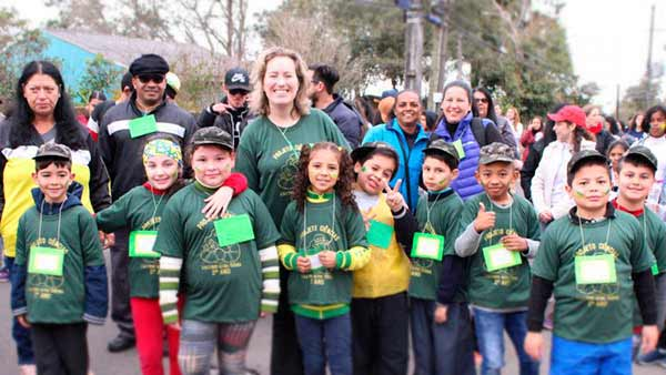 Caminha em Santa Maria RS 2 - Passeio ciclístico e caminhada reúne mais de 400 pessoas em honra à Pátria em Santa Maria