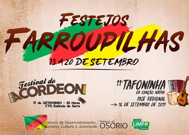 FESTEJOS FARROUPILHAS 3 - Confira as músicas classificadas para a Tafoninha 2019 de Osório