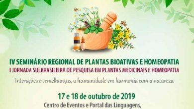 IV Seminário Regional de Plantas Bioativas 390x220 - Seminário sobre Plantas Bioativas e Homeopatia de Passo Fundo abre inscrições